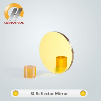 Carmanhaas High Quality Si Silicon Laser Mirror Dia. 25mm Coated Gold For Co2 Laser Engraving Cutting Machine